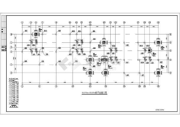某底部商场高层住宅楼cad结构施工图纸-图3