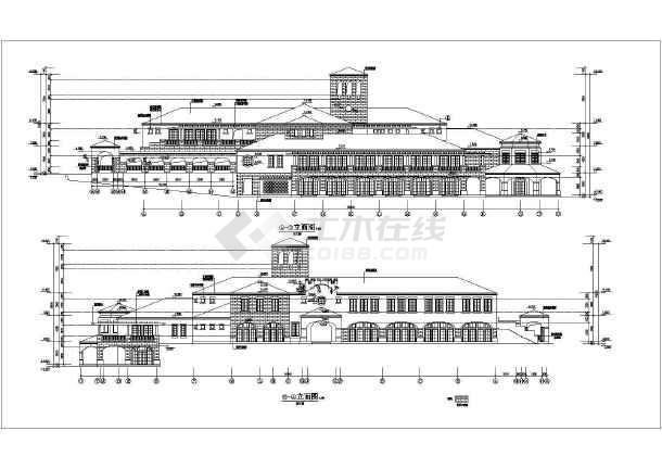 某地会所详细建筑设计CAD施工图-图1