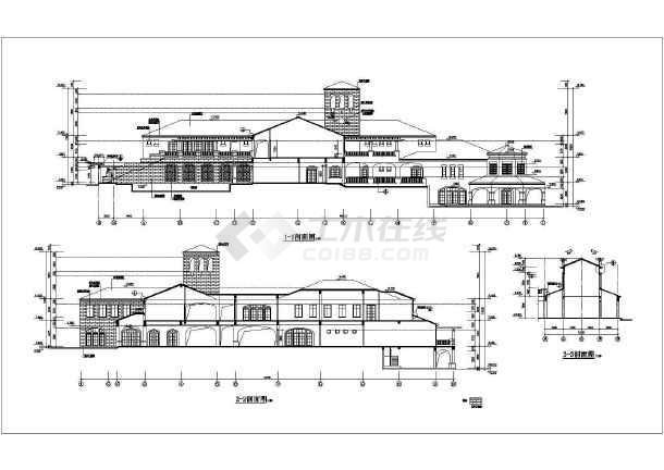 某地会所详细建筑设计CAD施工图-图2