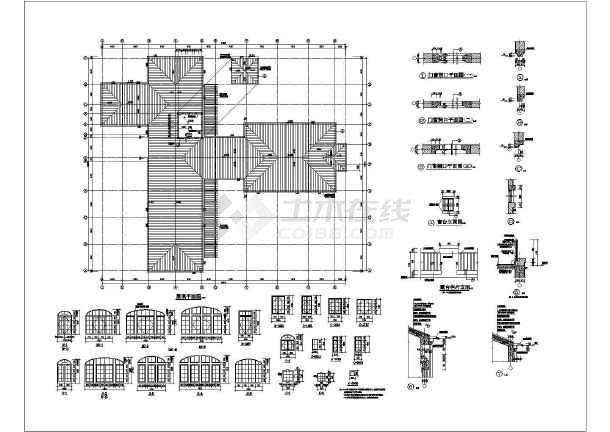 某地会所详细建筑设计CAD施工图-图3