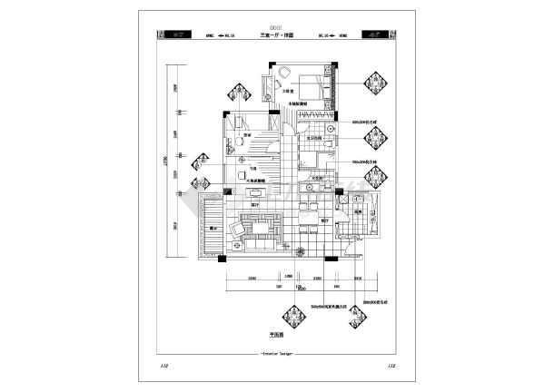 豪宅的大户型cad施工设计大样图纸-图3