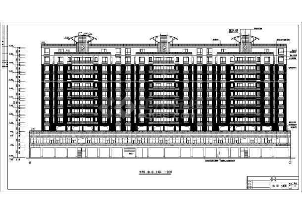 某市大型政府高层住宅全套建筑施工设计图-图1