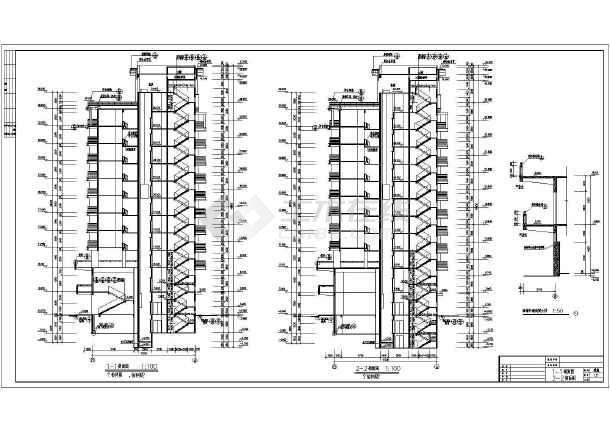 某市大型政府高层住宅全套建筑施工设计图-图3