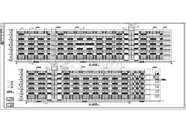 某学校学生宿舍楼建筑施工图纸(节点详细)-图2