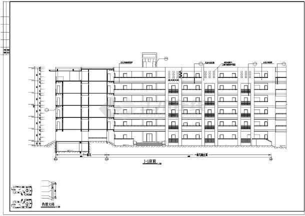 某学校学生宿舍楼建筑施工图纸(节点详细)-图3