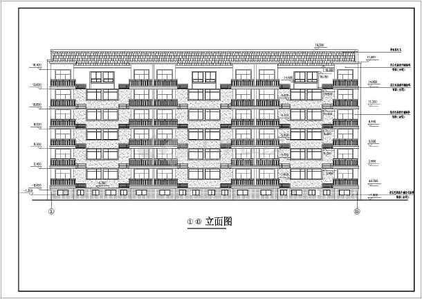 某地区大型小区7号楼建筑施工详细设计图-图1