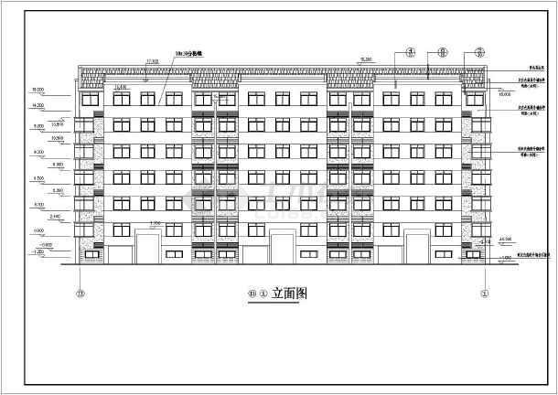 某地区大型小区7号楼建筑施工详细设计图-图2
