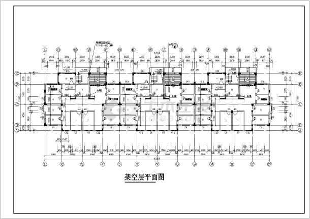 某地区大型小区7号楼建筑施工详细设计图-图3