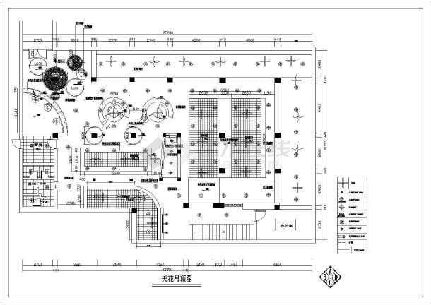 某网吧整层室内设计装修cad平面施工设计图-图1