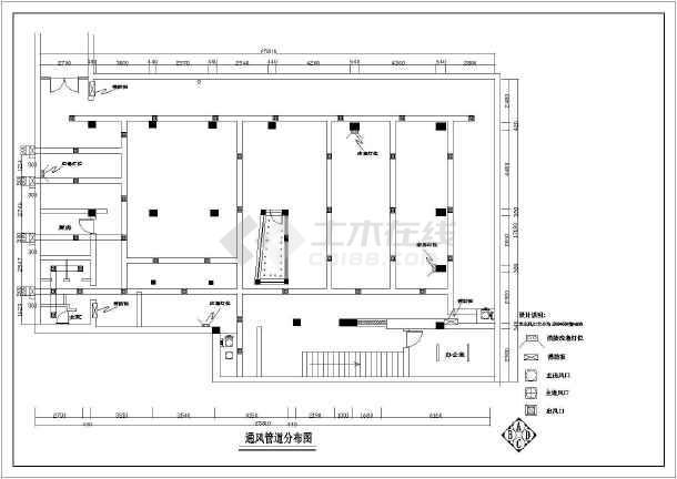 某网吧整层室内设计装修cad平面施工设计图-图2