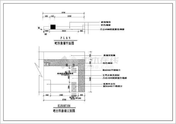某网吧整层室内设计装修cad平面施工设计图-图3