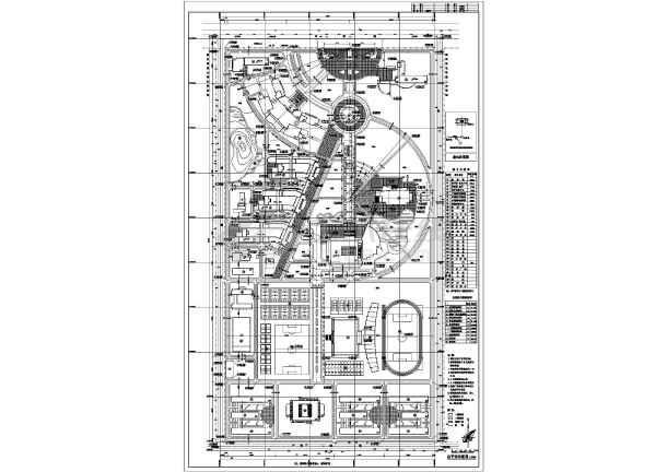 某地学院新校区总平面规划建筑图纸-图1