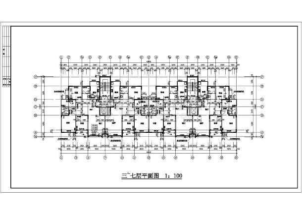某市花园式高层住宅建筑全套施工设计图-图1