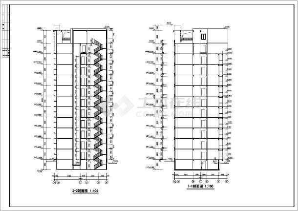某市花园式高层住宅建筑全套施工设计图-图2