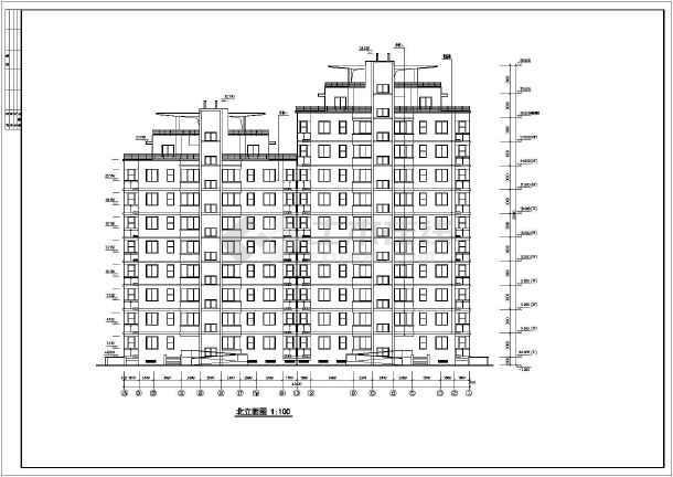 某市花园式高层住宅建筑全套施工设计图-图3