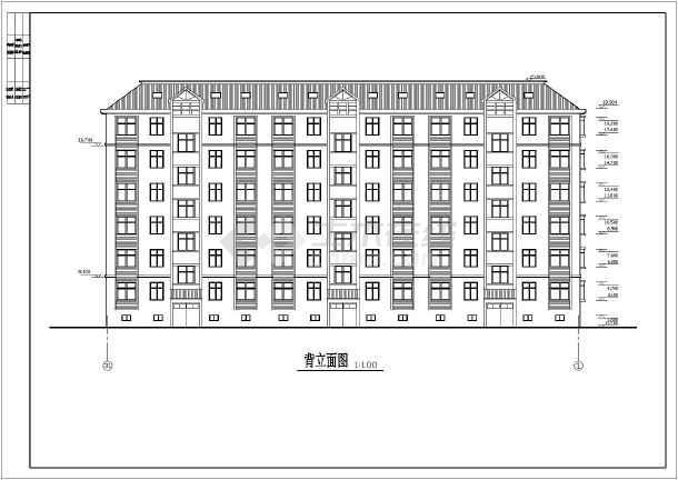 某地区大型小区六层住宅楼建筑施工设计图-图1