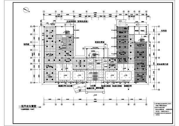 某医院一层室内装饰工程cad施工设计图-图2