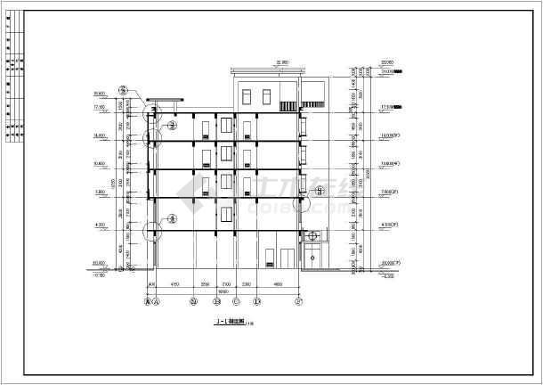 某工人俱乐部建筑设计CAD施工图-图3