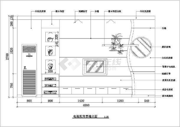 大三居室室内家装设计cad方案施工设计图-图2