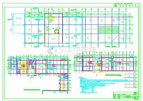某地科普展览馆建筑设计施工CAD图含效果图-图2