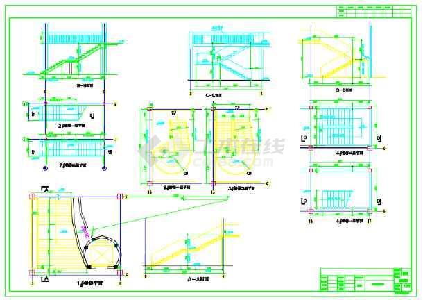某地科普展览馆建筑设计施工CAD图含效果图-图3