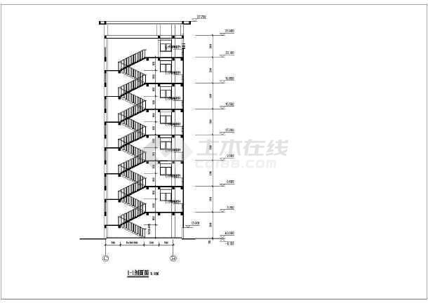 某学校教师宿舍楼cad设计方案图纸-图2