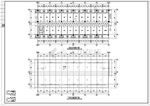 某学校学生宿舍楼建筑施工图纸(全集)-图2