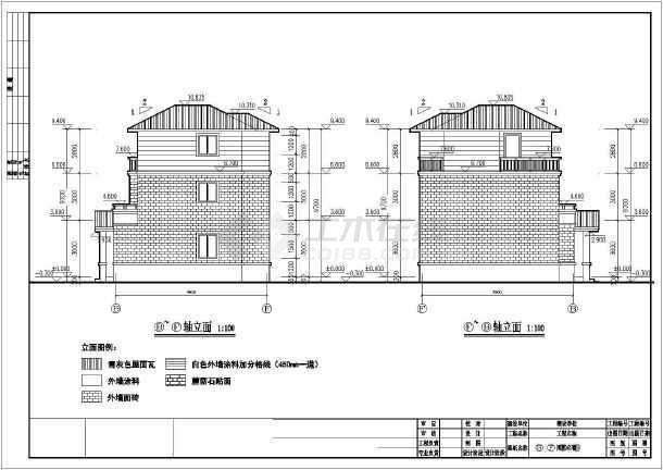 某农村别墅建筑施工图(含效果图)-图1