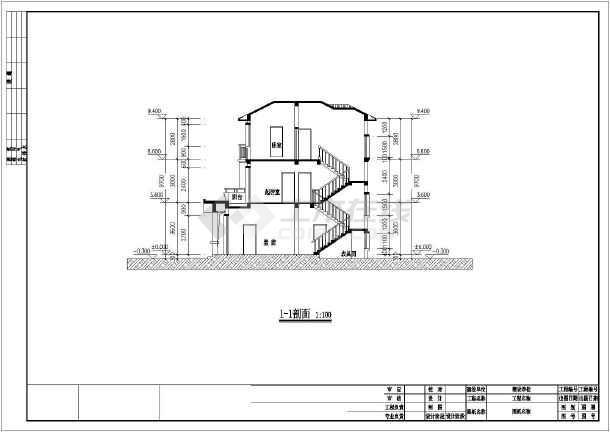 某农村别墅建筑施工图(含效果图)-图2