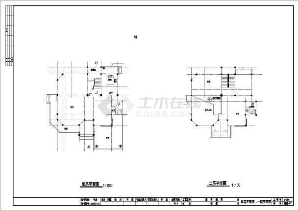 某三层12.9x11.6米别墅建筑施工图-图3