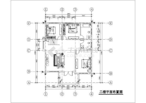 某三层独栋别墅建筑结构及水电全套设计图-图1