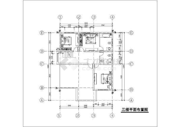 某三层独栋别墅建筑结构及水电全套设计图-图2