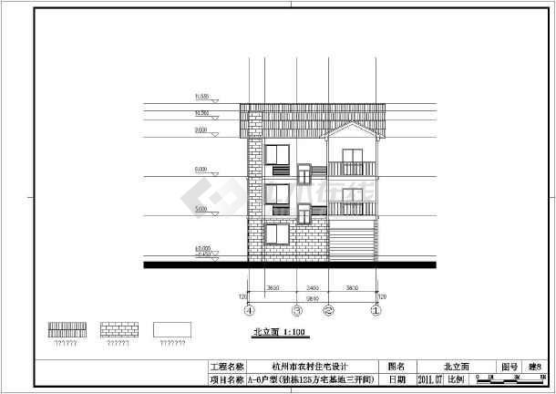 某别墅建筑结构及电气全套设计图纸-图1