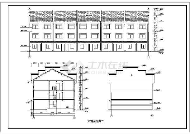 徽派小区住宅和街面房cad设计方案图纸-图1