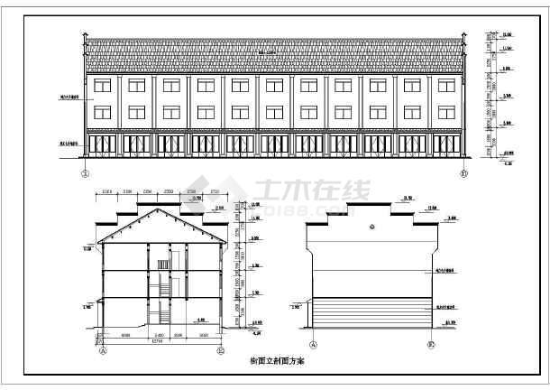 徽派小区住宅和街面房cad设计方案图纸-图2