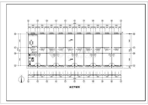 徽派小区住宅和街面房cad设计方案图纸-图3