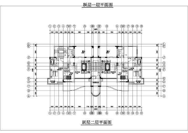 锦绣高层住宅楼cad平面施工布置图纸-图2
