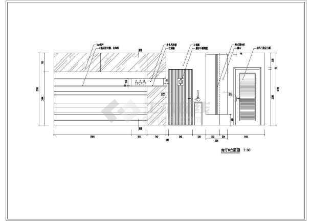 某住宅户型的室内装修cad立面施工设计图纸-图1