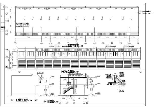某川西民居施工cad设计方案图纸-图2