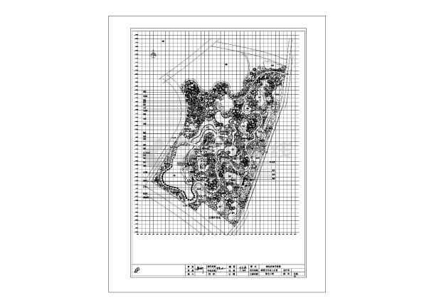 某地文化名人公园绿化工程设计施工图-图1