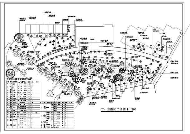 某地公园园林绿化植物种植设计施工图-图1
