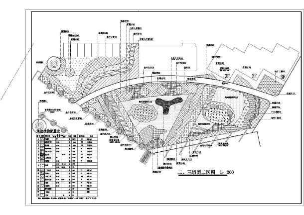 某地公园园林绿化植物种植设计施工图-图2