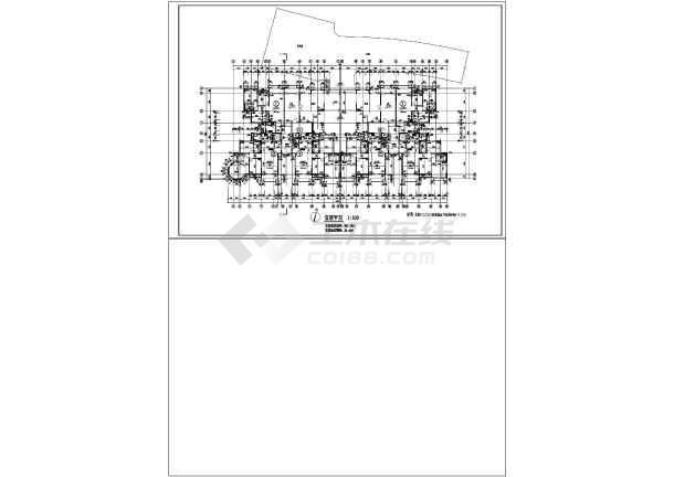 某地区幽静小高层住宅楼建筑施工图纸-图2