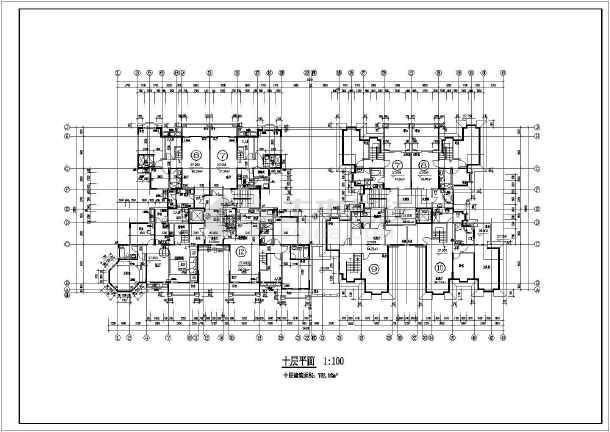 某地区幽静小高层住宅楼建筑施工图纸-图3