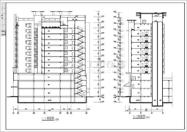 某地区精致小高层商业住宅楼建筑设计方案图-图1