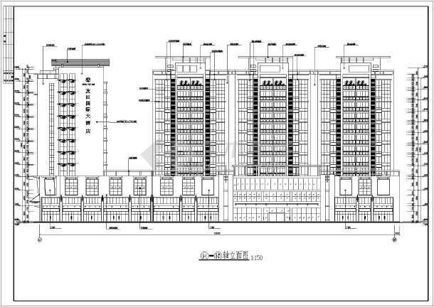 某地区精致小高层商业住宅楼建筑设计方案图-图2