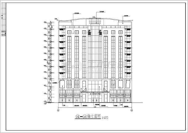 某地区精致小高层商业住宅楼建筑设计方案图-图3
