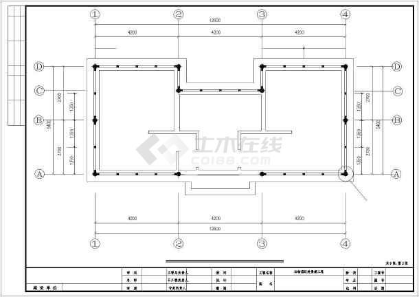 某公园景观厕所建筑结构园林cad设计施工图-图1