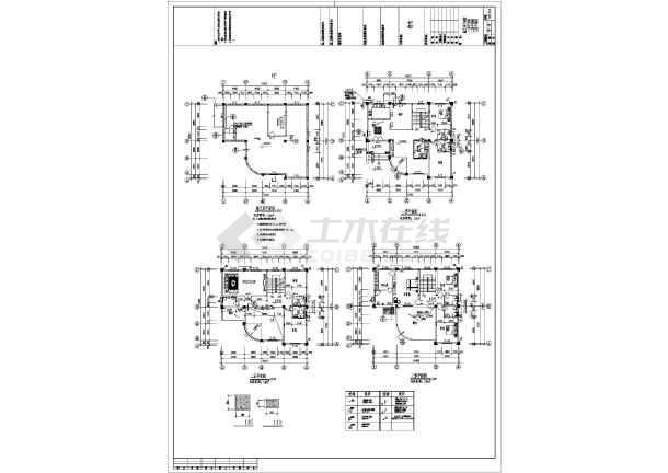 某13.6x15.4米独栋别墅建筑施工图-图2