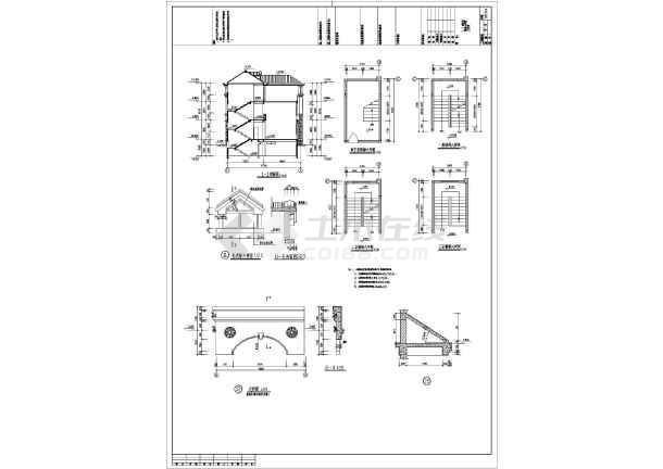 某13.6x15.4米独栋别墅建筑施工图-图3